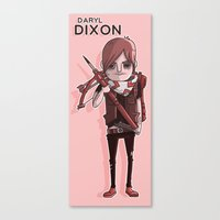 daryl dixon Canvas Prints featuring Daryl Dixon by Scott Ulliman