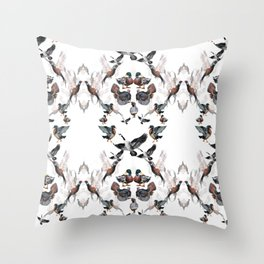 Game Birds Watercolor print - Gorgeous graphic hunting print Throw Pillow
