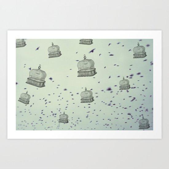 cage free Art Print
