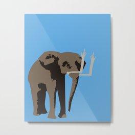 Angry Elephant Metal Print