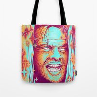 shining Tote Bags featuring Shining by Retkikosmos