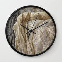 lace Wall Clocks featuring Lace by Jillian Audrey
