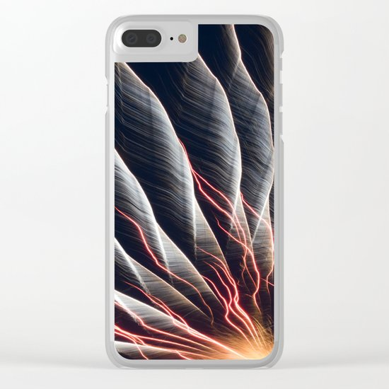 Swirl Lights Clear iPhone Case
