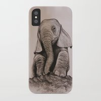 baby elephant iPhone & iPod Cases featuring Baby Elephant by haleyivers