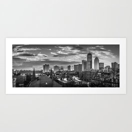 Black and White Boston - Massachusetts Art Print
