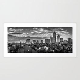 Black and White Boston - Massachusetts Art Print