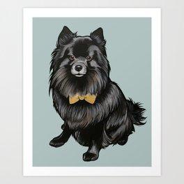 Ozzy the Pomeranian Mix Art Print