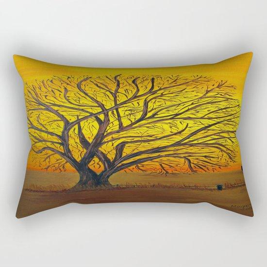 Rural sunset Rectangular Pillow