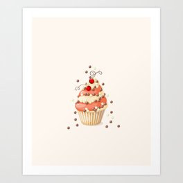 cupcake with currant Art Print