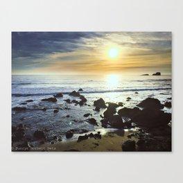 Coastline Sunset Canvas Print