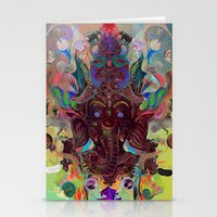 ganesha Stationery Cards featuring Ganesha by Archan Nair