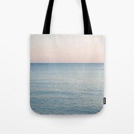 PINK SKY, BLUE SEA, EVENING SWIM Tote Bag