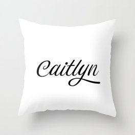 Name Caitlyn Throw Pillow