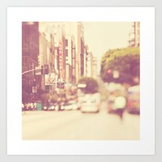 a memory. downtown Los Angeles photograph Art Print