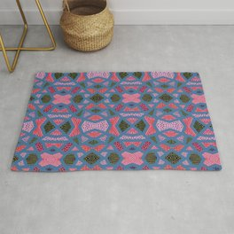 The collage of casual shapes Rug
