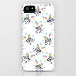Cute bear and little girl pattern design. iPhone Case
