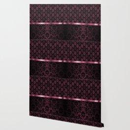 Pink Tint Skeleton Leave Pattern Wallpaper
