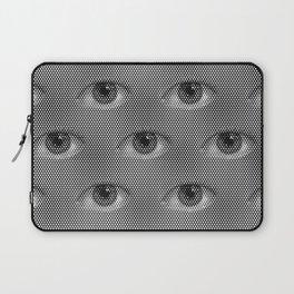Pop-Art Black And White Eyes Pattern Laptop Sleeve