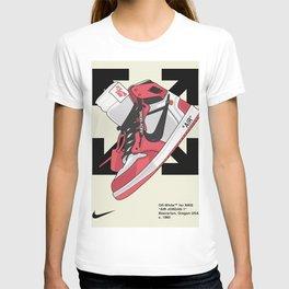 Jordan 1 off white Poster T-shirt