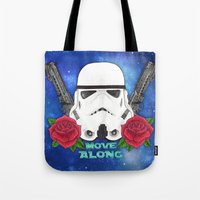 stormtrooper Tote Bags featuring Stormtrooper by Larissa