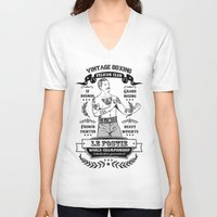 boxing V-neck T-shirts featuring Vintage Boxing by T-SIR | Oscar Postigo