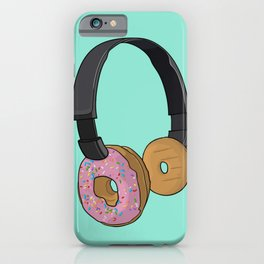 Donut Headphones iPhone Case