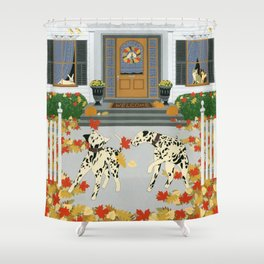 Autumn leaf game Shower Curtain