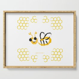 Happy bee Serving Tray