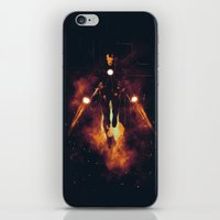 the shining iPhone & iPod Skins featuring Red shining by Steven Toang