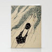 pool Stationery Cards featuring Pool by Agne Nananai
