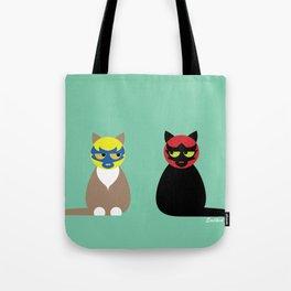 Gatos Luchadores Tote Bag