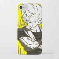 goku iPhone & iPod Cases featuring GOKU  by DeMoose_Art