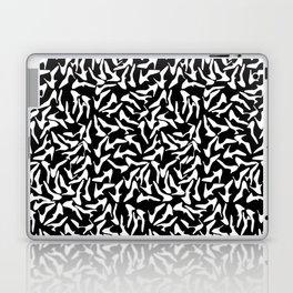 Shoes White on Black Laptop & iPad Skin