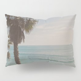 palm tree and ocean. California Vacation Pillow Sham