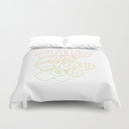 tidy as you go typographic slogan Duvet Cover
