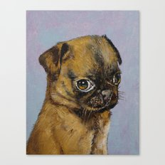 Pug Puppy Canvas Print