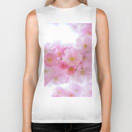 Pink Cherry Blossoms Biker Tank