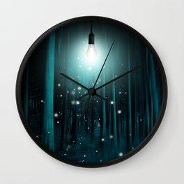 Floating Lights Room Wall Clock