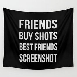 The Difference Between Friends and Best Friends Wall Tapestry