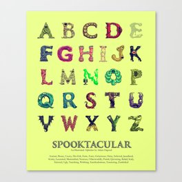 Spooktacular: An Illustrated Alphabet Canvas Print
