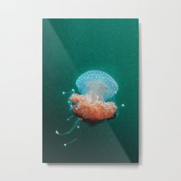 Textured Jellyfish Metal Print