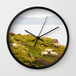 Scottish Sheep Wall Clock