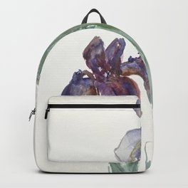 Irises (1897) by Sientje Mesdag-van Houten Backpack