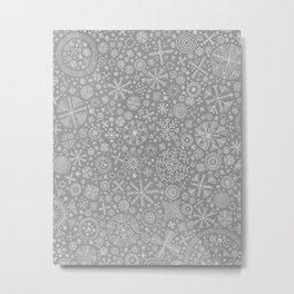 Pattern silver Metal Print