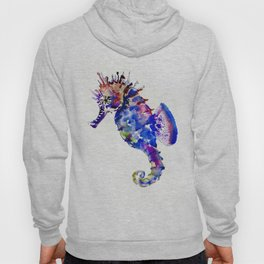Blue Coral Seahorse, coral reef animals sea world blue purple decor Hoody