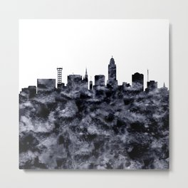 Lincoln Skyline Nebraska Metal Print