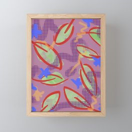 Leafy Print Framed Mini Art Print