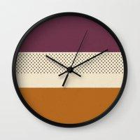 striped Wall Clocks featuring Striped by Bruna Zanardo