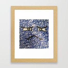 Blockhead # 7 - AKA Blue Framed Art Print