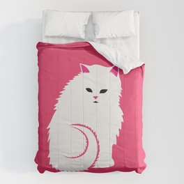 Fluffy White Cat Comforters